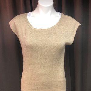 NWT gold sparkled sleeveless blouse